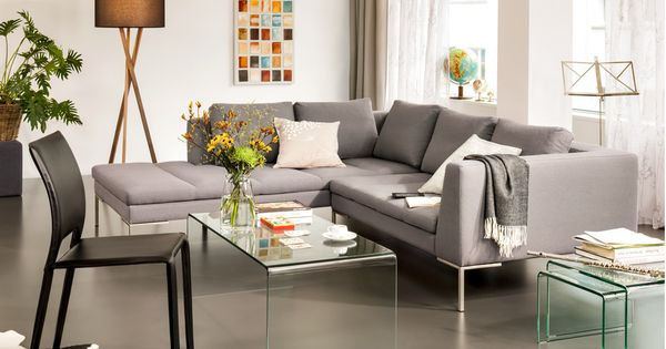 micasa wohnzimmer mit ecksofa bader und salontisch. Black Bedroom Furniture Sets. Home Design Ideas