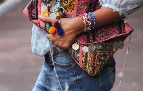 Sac à main tendance automne hiver sac ethnique bandoulière ethnic bag fashion