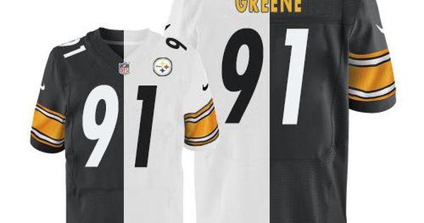 ... Nike Steelers 91 Kevin Greene White Black Mens Stitched NFL Elite Split Jersey  nfl nfljersey football ... 55ae999bb