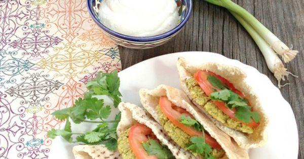 Recipe for Baked Falafel Sandwiches with Yogurt-Tahini Sauce | Falafel ...