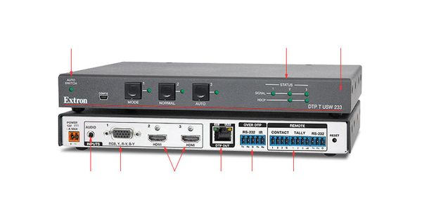 Extron Now Shipping Dtp T Usw 233 Three Input Switcher