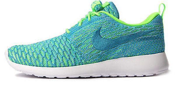 Nike Roshe One Flyknit Womens 704927 304 Electric Green