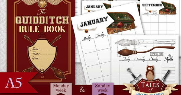 Printable monthly planner planner inserts broomstick for 12 grimmauld place floor plan