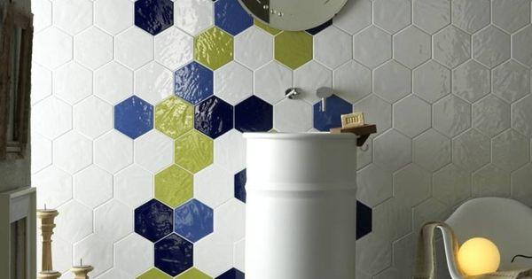Carrelage hexagonal tendance- idées de couleurs et designs!  Design