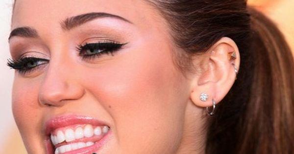 Celebs With Multiple Ear Piercings – Miley Cyrus ...