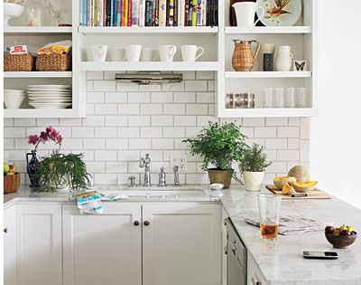 #white kitchen subway tiles open shelves small kitchens furniture southyarra Windsor amityapartmenthotels