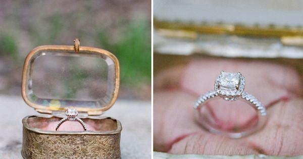 Vintage wedding ring box