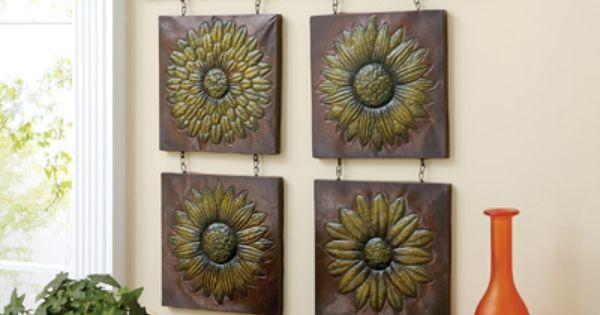 Vintage Sunflower Wall Decor : Antique sunflower d metal wall decor spotlight on