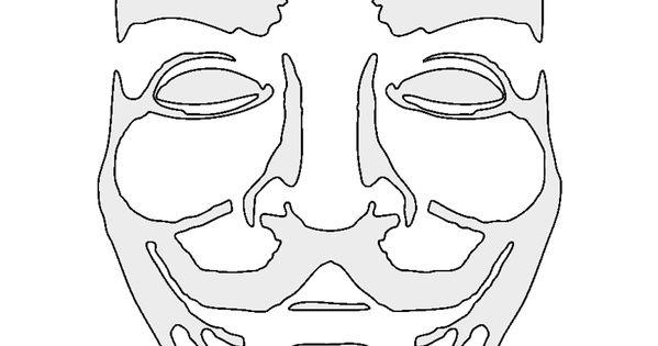 Anonymous-Mask-Stencil.jpg (850×1100) | Stencils ...