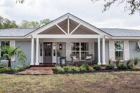 Image Result For White Ranch House With Wood Shutters Ranch House Remodel Ranch House Exterior Home Exterior Makeover