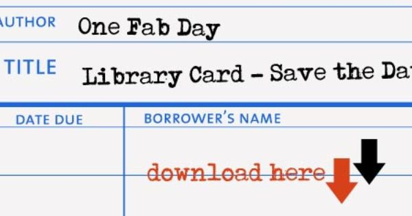 Library Style Save The Date Diy Onefabday Com Library Card Diy Wedding Cards
