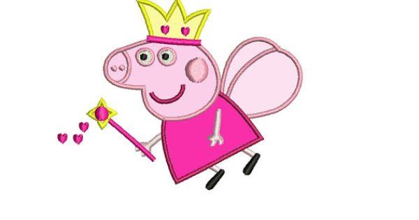 Peppa pig bordado 3 tama os de apliques dise o hadas for Descargar embroidery office design 7 5 full