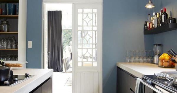 Muur Ideeen Gang : ... muur.. Keuken ideeen Pinterest Met, Blue ...