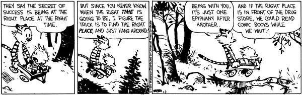 5. When Calvin blessed us with this wise M.O.: | Calvin and hobbes, Calvin  and hobbes comics, Funny p