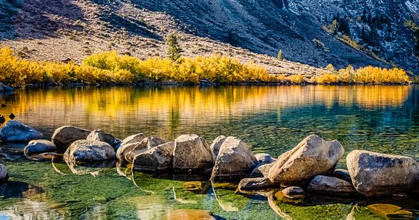 ~~Golden Shore, Convict Lake ~ crystal clear water, White ...