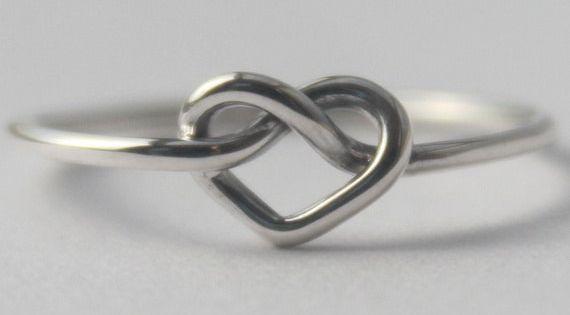 bague en argent sterling noeud coeur symbole de l 39 amour infini anneau de l 39 amiti 925 cadeau. Black Bedroom Furniture Sets. Home Design Ideas