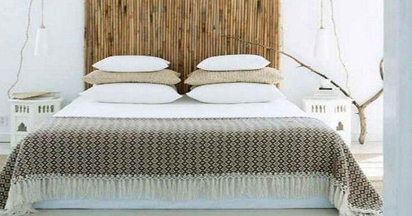 Ideas para hacer cabeceros originales y baratos ca a de - Cabecero de bambu ...