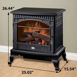 Dimplex Lincoln Freestanding Electric Stove Ds5629 Best Electric Fireplace Electric Fireplace Logs Electric Stove
