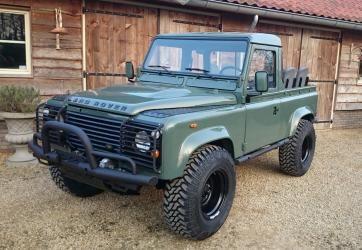 Stock Lr 04 Make 1985 Land Rover Defender Model 90 Pick Up Lhd