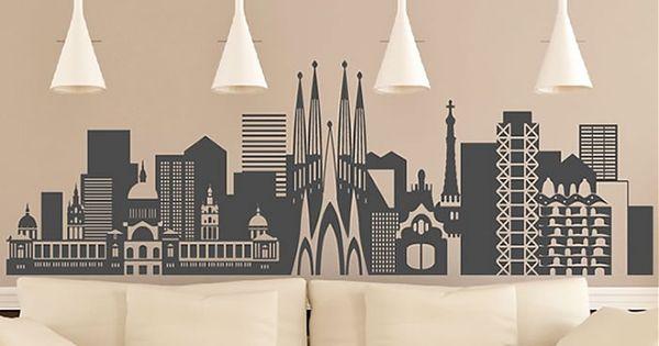 Vinilo decorativos ciudades de espa a barcelona 04155 - Teleadhesivo vinilos decorativos espana ...