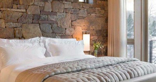 rustikale schlafzimmergestaltung ideen wand aus. Black Bedroom Furniture Sets. Home Design Ideas