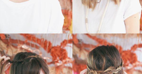 #HAIR TUTORIAL // HALF UP BRAIDED CROWN HAIRSTYLE might do this once