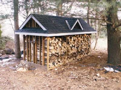 Large Firewood Storage Shed Plans Outdoor Buildings