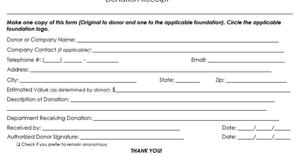 Sample Donation Receipt Template Png 650 391 Receipt Template Free Receipt Template Donation Form
