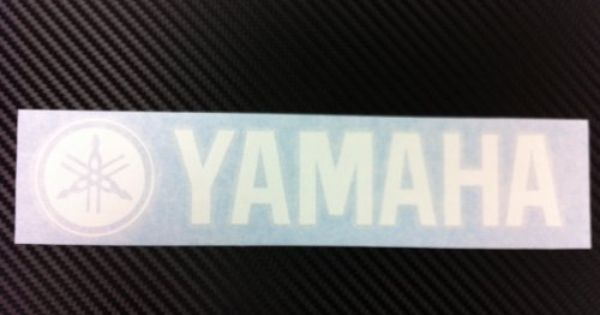 1x Yamaha Racing Decal Sticker New White Size 8 X1 75 By Click2go 1 99 Can Last 5 To 6 Years With Images Yamaha Racing Yamaha Decals Stickers