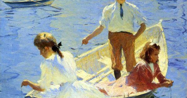 Calm Morning, 1904 by Frank Weston Benson (American impressionist, 1862 – 1951)