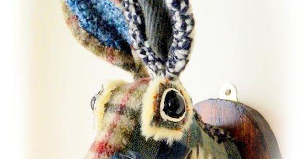 Hare Head Faux Taxidermy Wall Mounted Rabbit Animal Head