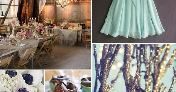 Seafoam Green and Purple Wedding : love this color scheme