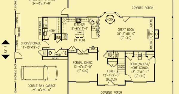 Architectural House Plans Floor Plan Details Southern Exposure 2 Dream home