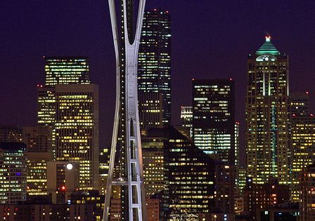 The Space Needle at Christmas. Seattle, Washington. This would be another great