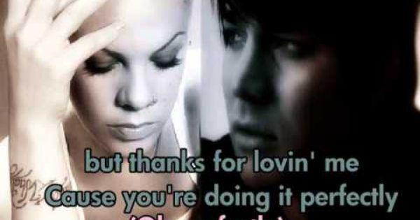 Pink And Adam Lambert Whataya Want From Me Lyrics On Screen