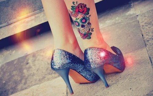 sugar skull tattoo designs for women | Sugar Skull Tattoo Girl