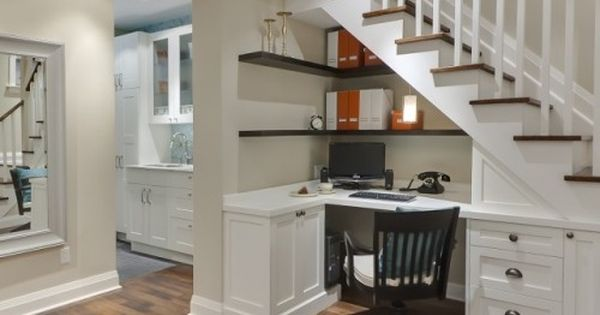 Create a home office. This understair corner provides plenty of space for