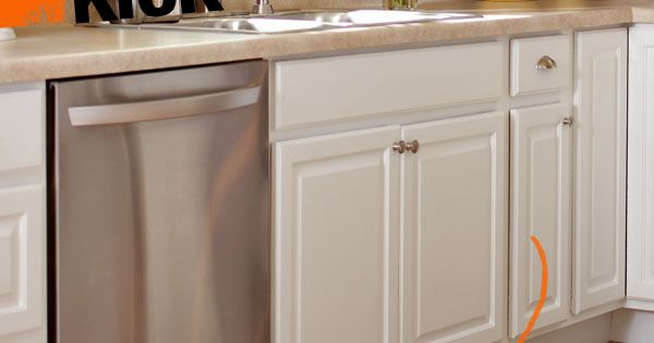 A toe kick is the recess at the bottom of a base cabinet - Kitchen cabinet toe kick options ...