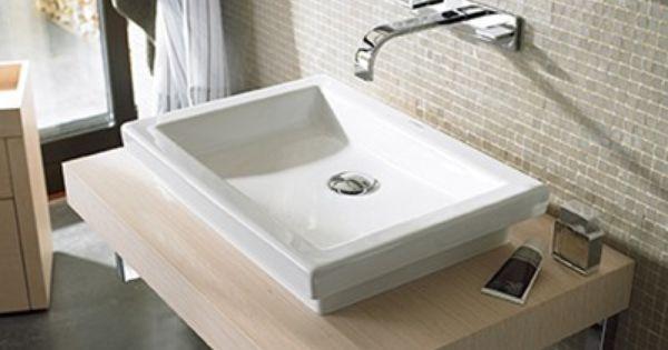 Lavabos sobre encimeras duravit ba o peque o - Encimeras lavabos bano ...