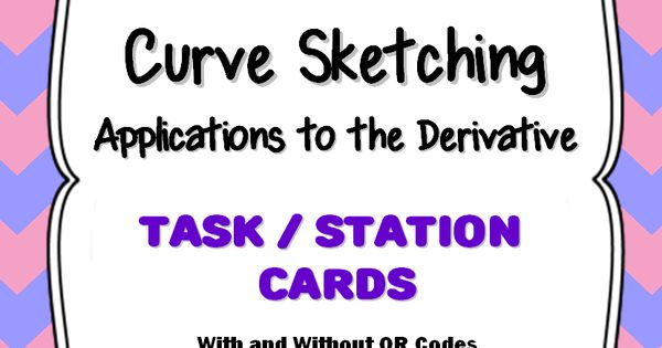 calculus introduction to curve sketching with derivatives qr task cards ap calculus calculus. Black Bedroom Furniture Sets. Home Design Ideas