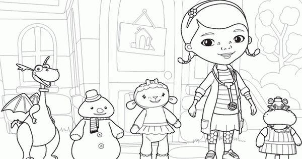 Desene de colorat cu Doctorita Plusica Disney Junior