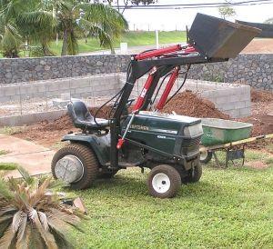 Sears Craftsman Gt 5000 Garden Tractor Loader 1 Garden Tractor Attachments Yard Tractors Tractor Attachments
