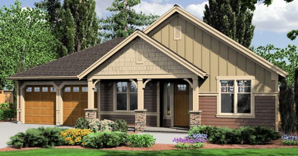 Rustic craftsman style home with warming front porch Craftsman style gables