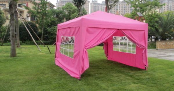 10x10 10x20 Ez Pop Up Wedding Party Tent Folding Gazebo Camping Canopy W Sides With Images Party Tent Pop Up Canopy Tent Tent