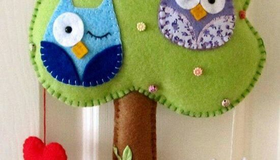 Owl fieltro and rbol de fieltro on pinterest - Arbol de fieltro ...