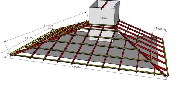 Planta de techo 3 caidas puede usarse perfil tipo c o for Caidas de techos para casas
