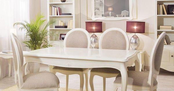 Mesa de comedor extensible provenzal paris blanca - Comoda mesa extensible ...