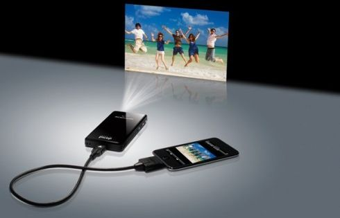 Great product - an iPhone projector.