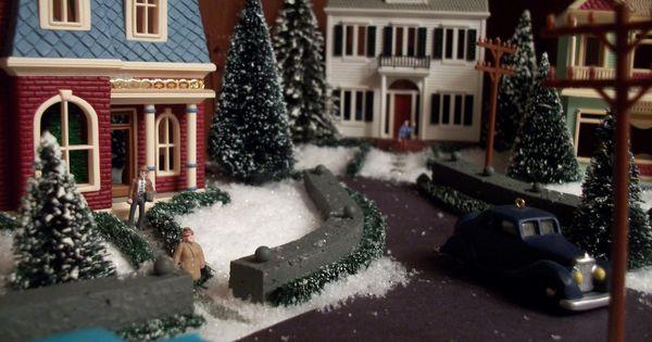 The Average Designer Displaying Nostalgic Houses And Shops By Hallmark Displaying