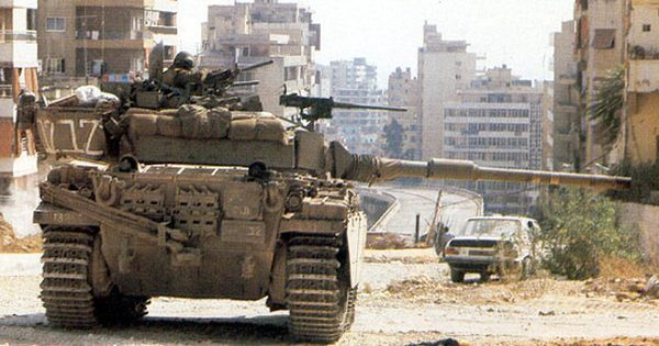 Israeli Centurion Mbt In Beyrouth 1982 Tanks Military War